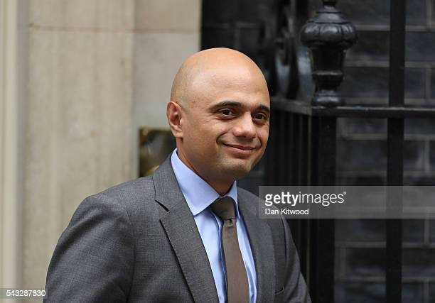 Sajid Javid Secretary of State for Business Innovation and Skills leaves Downing Street following a cabinet meeting on June 27 2016 in London England...