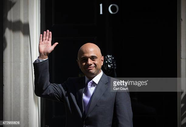 Sajid Javid the Newly appointed Secretary of State for Business arrives at Downing Street on May 11 2015 in London England Prime Minister David...