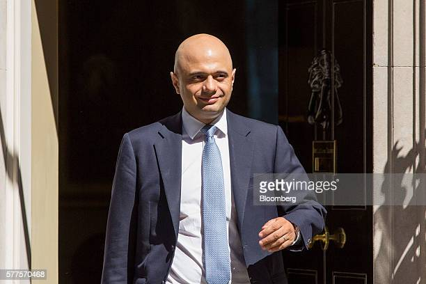 Sajid Javid UK communities and local government secretary leaves following a cabinet meeting at 10 Downing Street in London UK on Tuesday July 19...