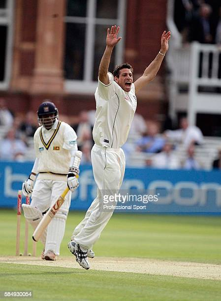 Sajid Mahmood of England appeals successfully against Thilan Samaraweera of Sri Lanka who is out for 0 during day two of the 1st npower Test match...
