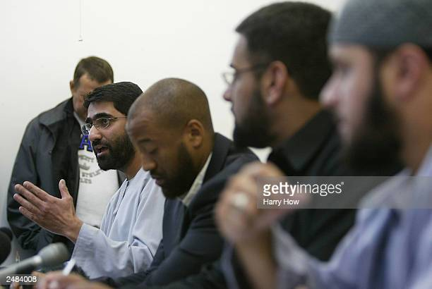 Sajid Sharif Head of Society of Muslim Parents speaks during a conference September 11 2003 in London Al Muhajiroun who have previously described the...