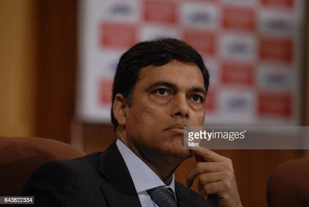 Sajjan Jindal chairman of JSW steel at the listing ceremony of JSW Energy at Bombay Stock Exchange on January 4 2009 in Mumbai India