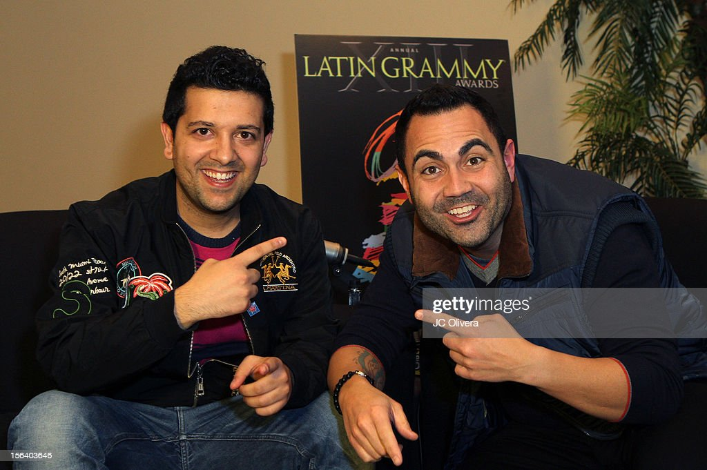 DJ Sak Noel (L) and radio personality Enrique Santos attend the 13th annual Latin GRAMMY Awards Univision Radio Remotes held at the Mandalay Bay Events Center on November 14, 2012 in Las Vegas, Nevada.