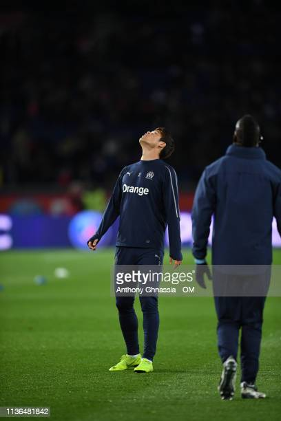 Sakai at the Ligue 1 match between Paris Saint Germain and Olympique de Marseille at Parc des Princes on March 17 2019 in Paris France