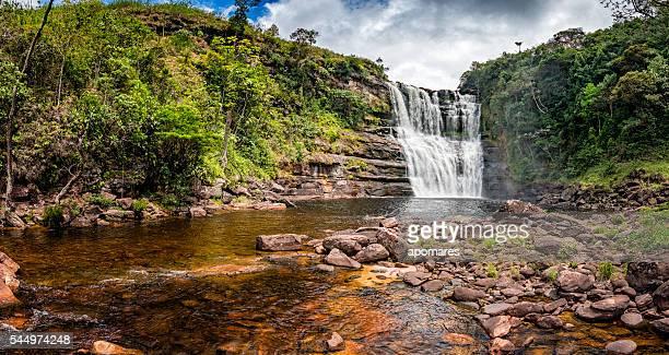 sakaika cachoeira ou salto sakaika. la gran sabana venezuela - planalto - fotografias e filmes do acervo
