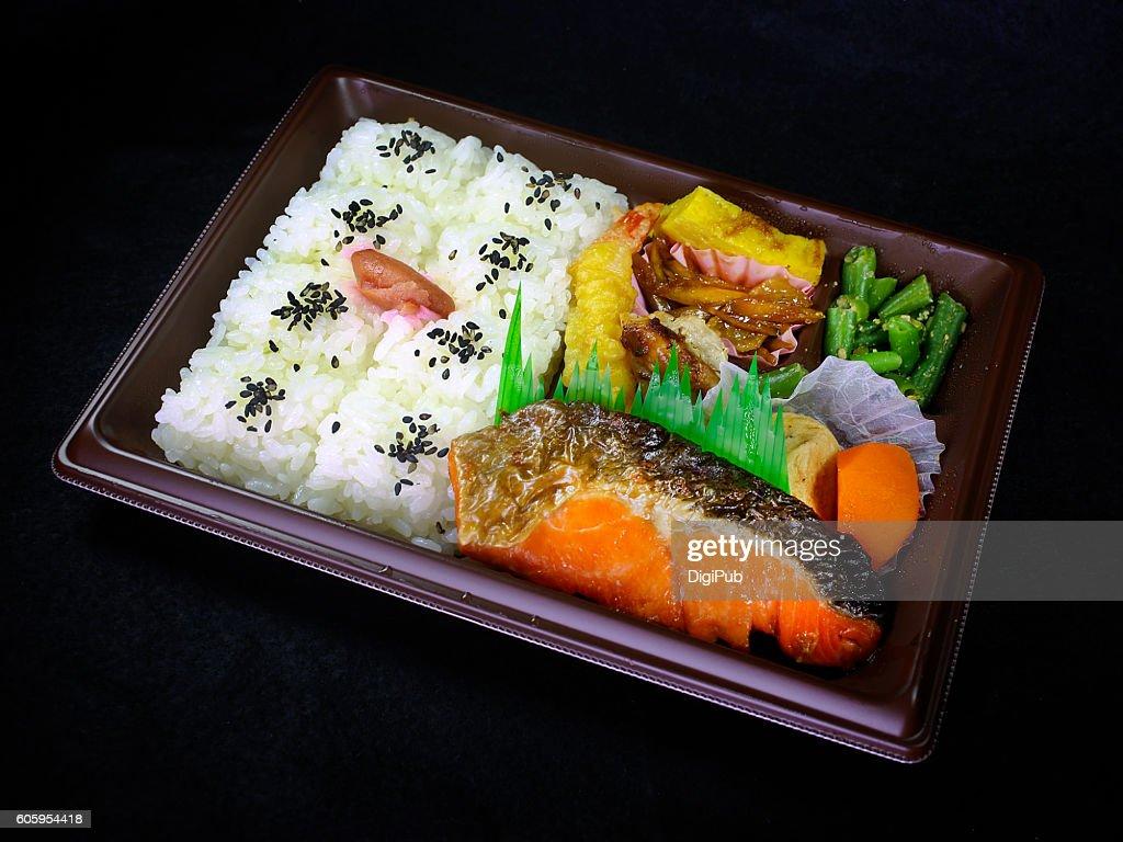 Sake Bento : Stock Photo
