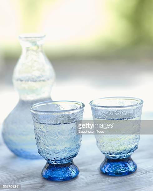 Sake Bottle And Glasses