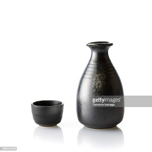 Sake decanter and cup