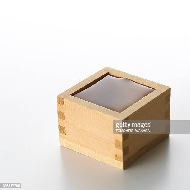 Sake in Measuring Box