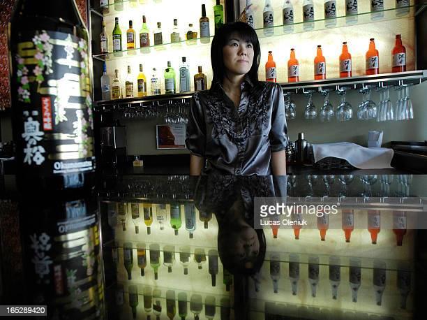 Saki expert Yumi Izutsu photographed at Kaiseki Sakura restarant on Church Street in downtown Toronto29107
