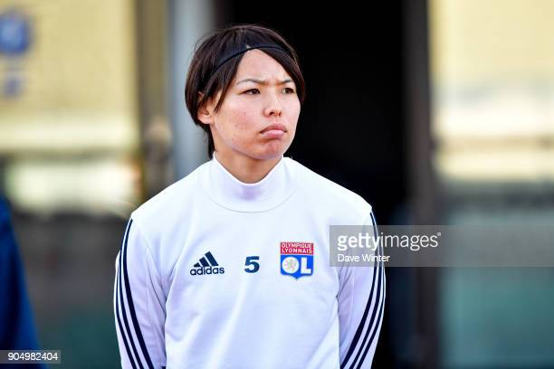 Saki Kumagai of Lyon before the Division 1 match between Paris FC and Lyon on January 14 2018 in Evry Bondoufle France