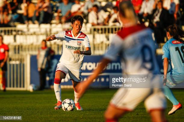 Saki Kumagai of Lyon during the Women's Champions League match between Lyon and Avaldsnes on September 27 2018 in Lyon France