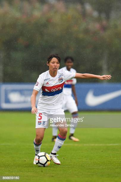 Saki Kumagai of Lyon during the women's Division 1 match between Montpellier and Lyon on September 30 2017 in Montpellier France