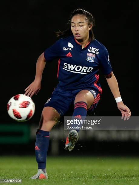 Saki Kumagai of Olympique Lyon Women during the match between Ajax v Olympique Lyon at the De Toekomst on October 17 2018 in Amsterdam Netherlands