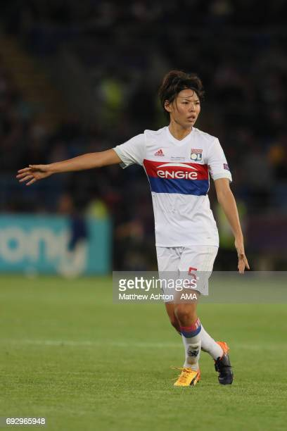 Saki Kumagai of Olympique Lyonnais during the UEFA Women's Champions League Final match between Lyon and Paris Saint Germain on June 1 2017 in...