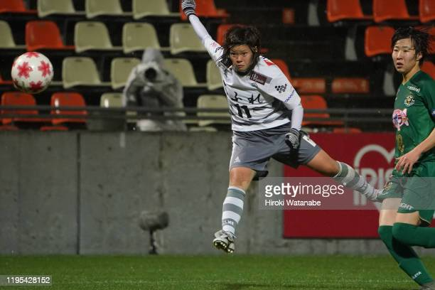Saki Takano of AS Elfen Saitama in action during the Empress Cup 41st JFA Women's Championship Semi Final between NTV Beleza and Chifure AS Elfen...