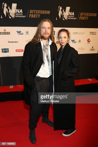 Sakias Kerner and his girlfriend Johanna attend the 'Nena Nichts versaeumt After Show Party' on September 21 2017 in Hamburg Germany
