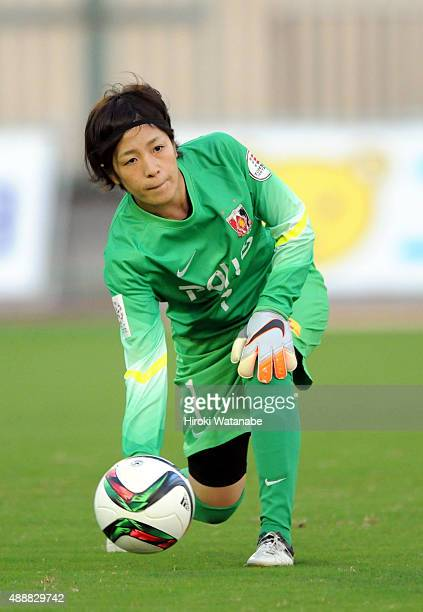 Sakiko Ikeda of Urawa Reds Ladies in action during the Nadeshiko League match between Urawa Red Diamonds Ladies and Okayama Yunogo Belle at Komaba...