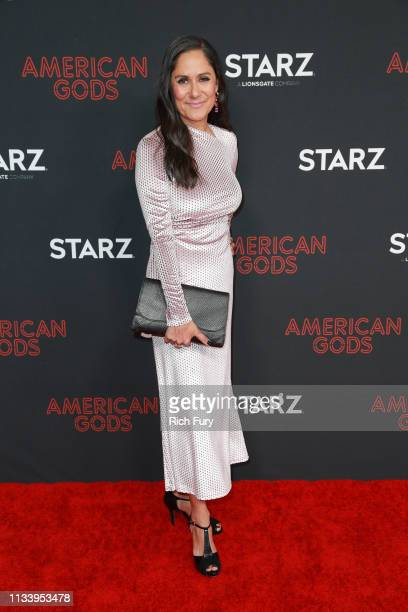 Sakina Jaffrey attends the premiere of STARZ's 'American Gods' season 2 at Ace Hotel on March 05 2019 in Los Angeles California