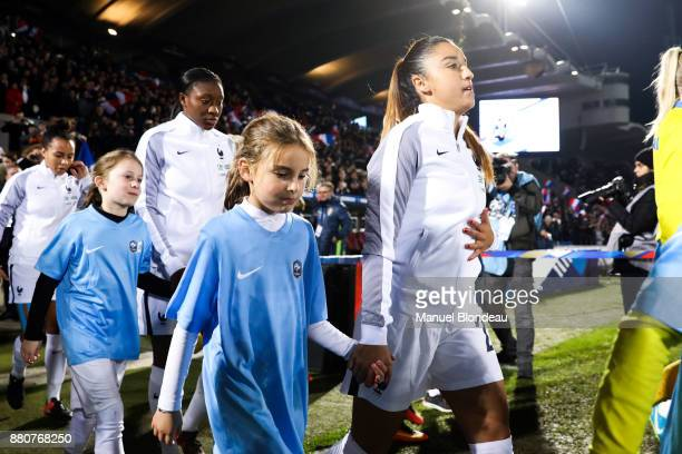 Sakina Karchaoui of France during the Women's friendly international match between France and Sweden the at Stade ChabanDelmas on November 27 2017 in...
