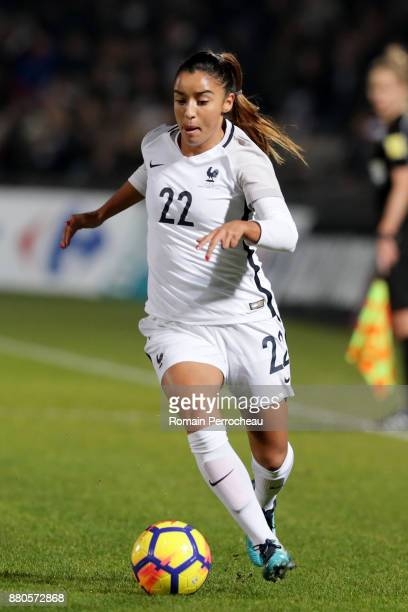Sakina Karchaoui of France in action during a Women's International Friendly match between France and Sweden at Stade ChabanDelmas on November 27...