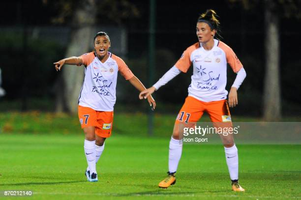 Sakina Karchaoui of Montpellier during the French Women's Division 1 match between Paris Saint Germain and Montpellier on November 4 2017 in Paris...