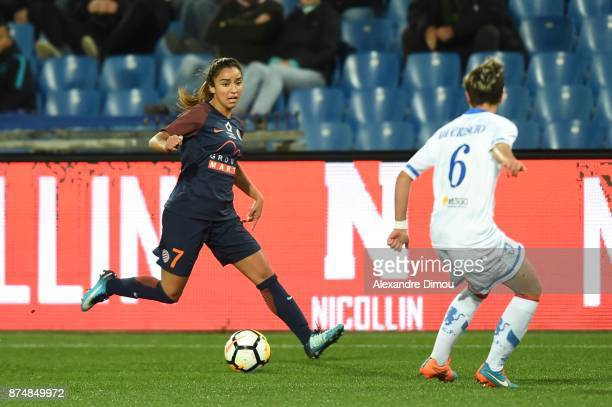 Sakina Karchaoui of Montpellier during the UEFA women's Champions League match Round of 16 second leg between Montpellier and Brescia on November 15...
