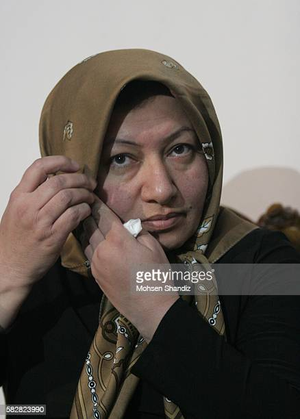 Sakineh Mohammadi Ashtianian Iranian 43 years old woman sentenced to death by stoning for adultery during an interview with a group of journalists...
