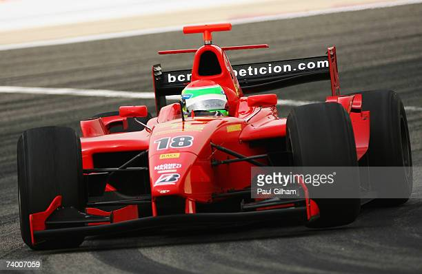 Sakon Yamamoto of Japan and BCN International competes during the GP2 Series race held before the Bahrain Formula One Grand Prix at the Bahrain...