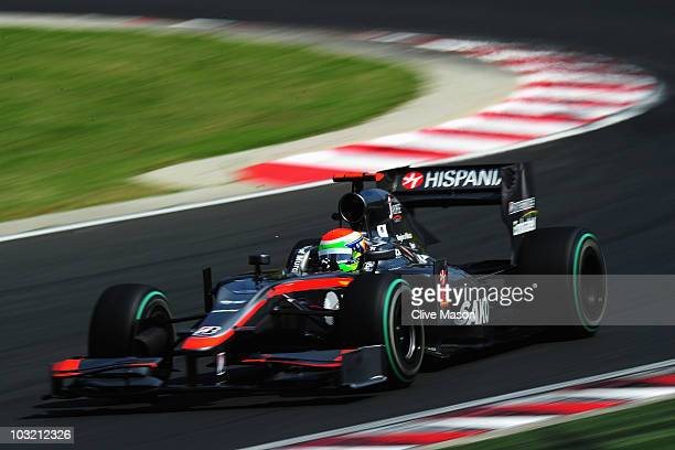 Sakon Yamamoto of Japan and Hispania Racing Team drives during the Hungarian Formula One Grand Prix at the Hungaroring on August 1 2010 in Budapest...