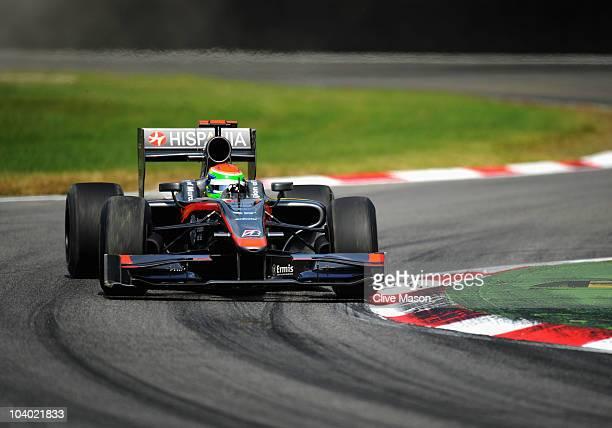 Sakon Yamamoto of Japan and Hispania Racing Team drives during the Italian Formula One Grand Prix at the Autodromo Nazionale di Monza on September 12...