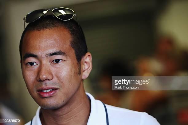 Sakon Yamamoto of Japan and Hispania Racing Team prepares to drive during the British Formula One Grand Prix at Silverstone on June 11 in Northampton...