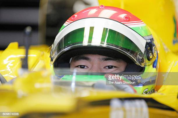 Sakon Yamamoto of Japan and Jordan is seen in the garage during the practice for the Japan F1 Grand Prix on October 7, 2005 in Suzuka, Mie, Japan.
