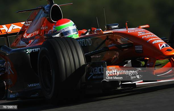 SPA FRANCORCHAMPS BELGIUM SEPTEMBER 14 Sakon Yamamoto of Japan and Spyker F1 in action during practice for the Belgian Formula One Grand Prix at the...