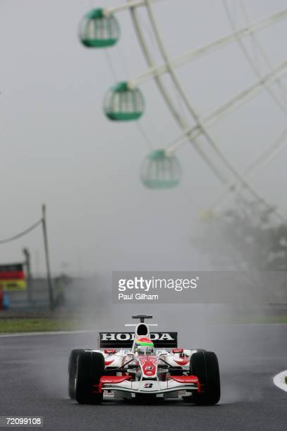 Sakon Yamamoto of Japan and Super Aguri F1 in action during the first practice for the Japanese Formula One Grand Prix at Suzuka Circuit on October 6...