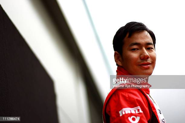 Sakon Yamamoto of Japan and Virgin Racing is pictured during the previews to the Australian Formula One Grand Prix at the Albert Park Circuit on...