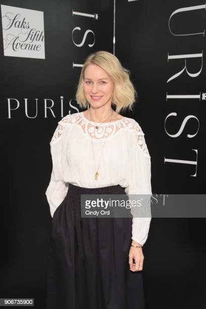 Saks Fifth Avenue and Purist host Wellness Panel Discussion with Naomi Watts on January 18 2018 in New York City