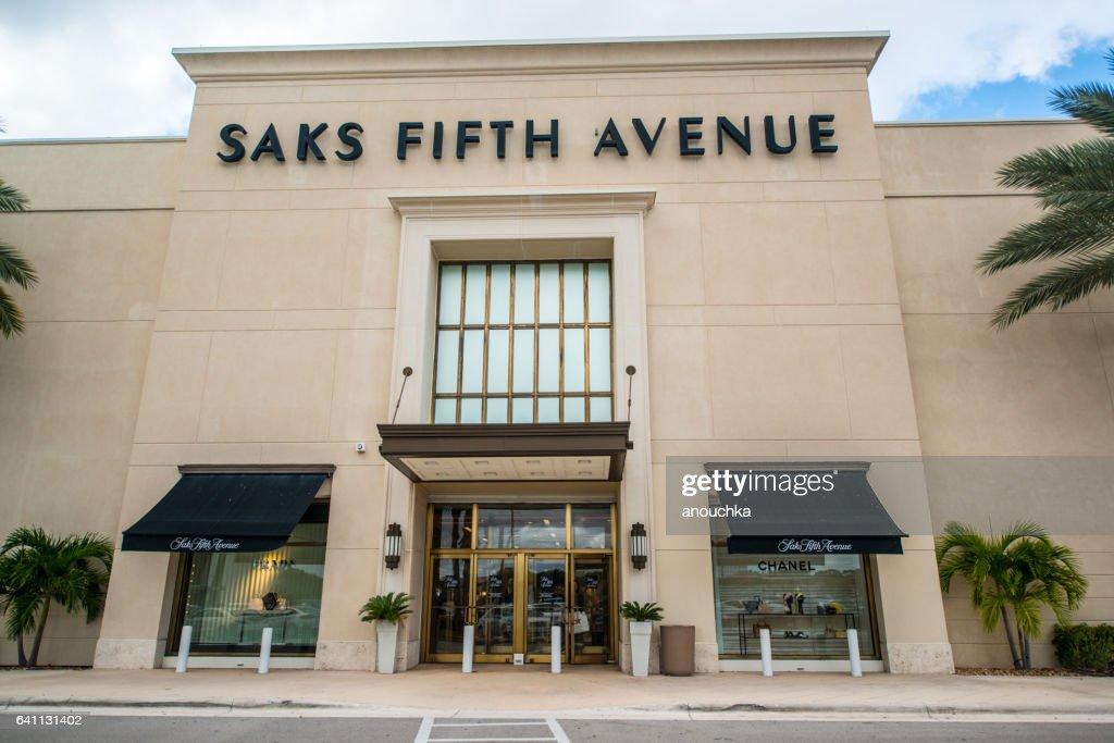 Saks Fifth Avenue Department Store in Boca Raton, USA : Stock Photo