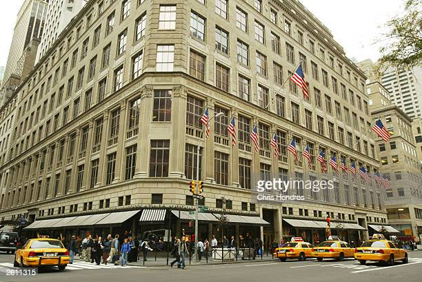Saks Fifth Avenue is seen October 17 2003 in New York City
