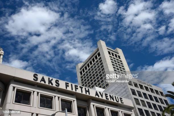 Saks Fifth Avenue store in Union Square, San Francisco, California.