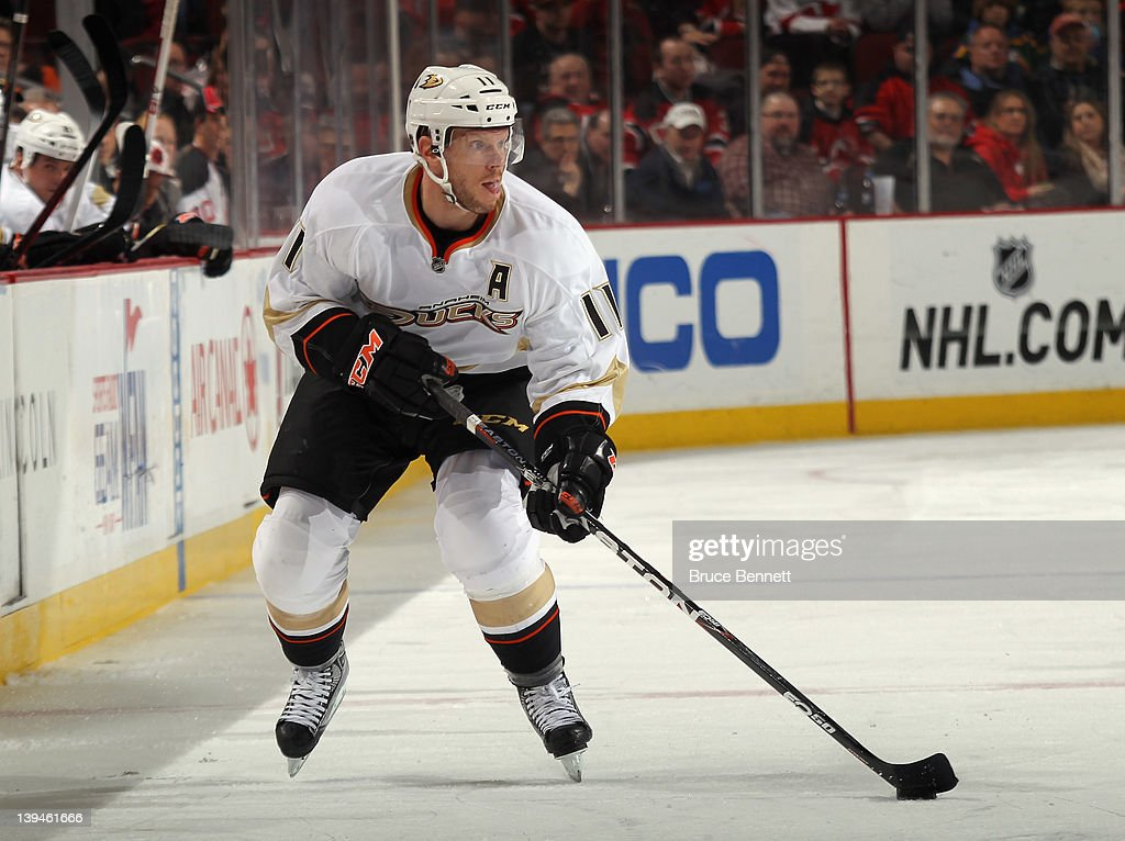 3f98c7f1d Saku Koivu of the Anaheim Ducks skates against the New Jersey Devils ...