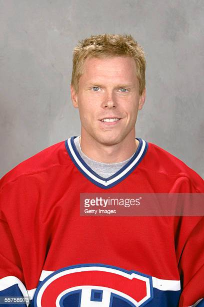 Saku Koivu of the Montreal Canadiens poses for a portrait at Bell Centre on September 122005 in Montreal Canada