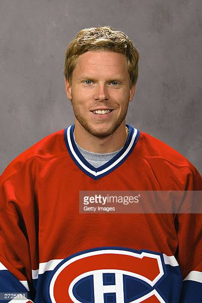 Saku Koivu of the Montreal Canadiens poses for a portrait on September 15 2003 at the Bell Centre in Montreal Quebec Canada