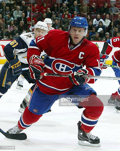 Saku Koivu of the Montreal Canadiens skates against the Buffalo Sabres during their NHL game at the Bell Centre November 5 2007 in Montreal Quebec