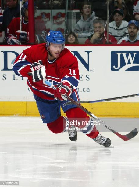 Saku Koivu of the Montreal Canadiens skates against the Tampa Bay Lightning during their NHL game at Bell Centre on January 2 2007 in Montreal Quebec...