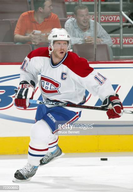 Saku Koivu of the Montreal Canadiens skates before the game against the Philadelphia Flyers on October 11 2006 at the Wachovia Center in Philadelphia...