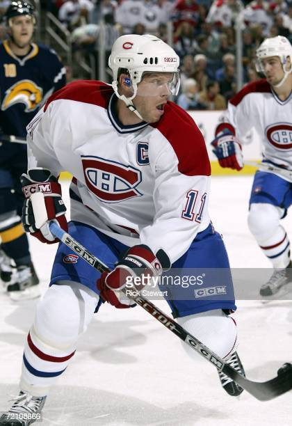 Saku Koivu of the Montreal Canandiens skates against the Buffalo Sabres on October 6, 2006 at HSBC Arena in Buffalo, New York.