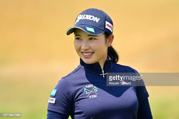 Sakura Koiwai of Japan is seen during the first round of the JLPGA Championship Konica Minolta Cup at the JFE Setonaikai Golf Club on September 10...