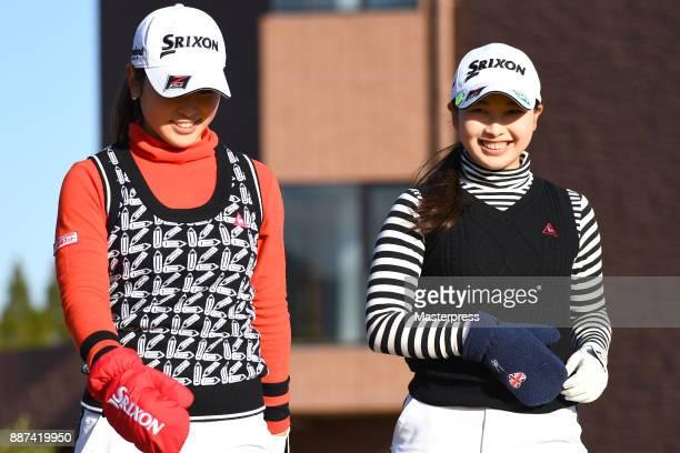 Sakura Koiwai of Japan smiles during the first round of the LPGA Rookie Tournament at Great Island Club on December 7 2017 in Chonan Chiba Japan