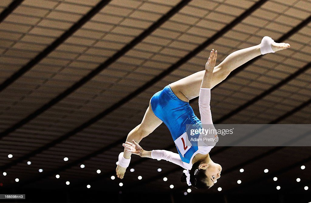 Sakura Noda of Japan performs her beam routine during day two of the 67th All Japan Artistic Gymnastics Individual All Around Championship at Yoyogi National Gymnasium on May 12, 2013 in Tokyo, Japan.